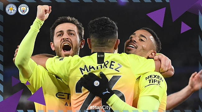 Manchester City Leicester'ı Gabriel Jesus'la geçti