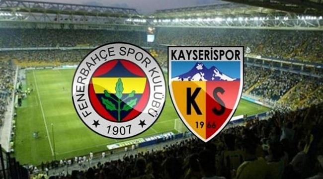 Fenerbahçe Kayserispor maçı hangi kanalda, saat kaçta?