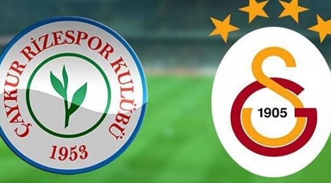 Rizespor Galatasaray maçı hangi kanalda saat kaçta?