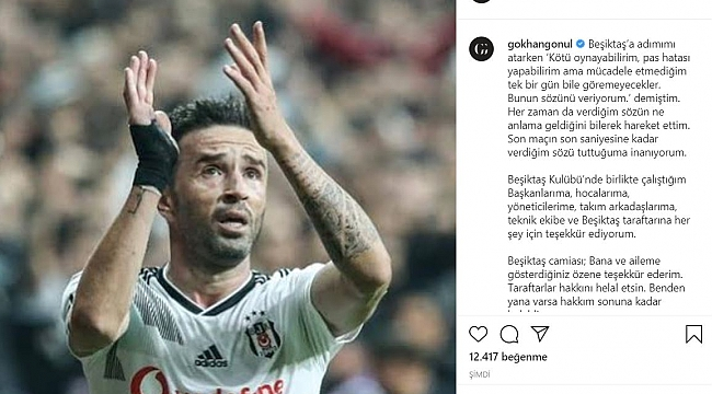 Gökhan Gönül Beşiktaş'a veda etti