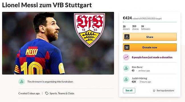 Messi için 424 euro topladılar!