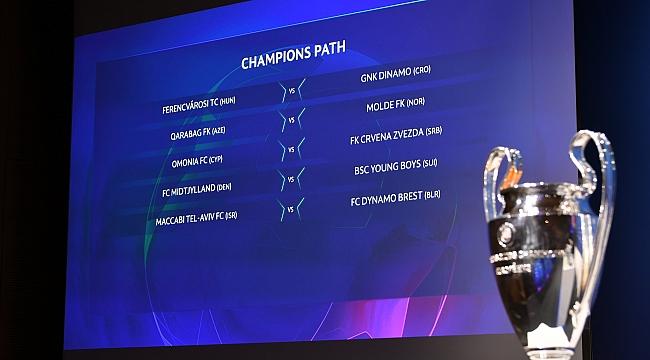 Şampiyonlar Ligi 3. ön eleme turu eşleşmeleri