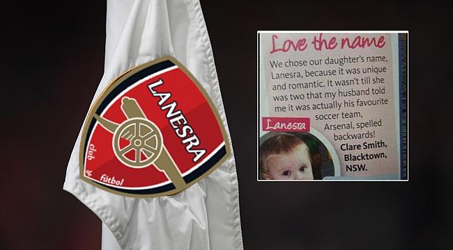 Bebeğine 'Lanesra' adını koydu! Sebebi Arsenal