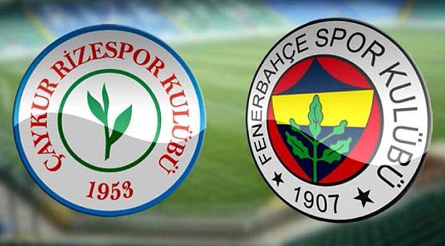 Çaykur Rizespor - Fenerbahçe maçı hangi kanalda saat kaçta