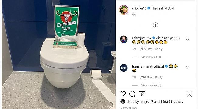 Eric Dier'ın 'tuvalet' temalı paylaşımı güldürdü