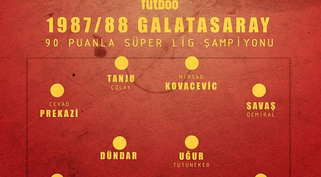 Galatasaray'ın efsane kadrosu (1987/88)