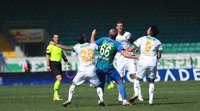 Rize'de puanlar paylaşıldı! 90 dakikada iki gol