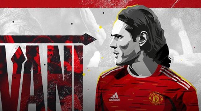 Manchester United'ın 7 numarası Cavani'ye emanet!