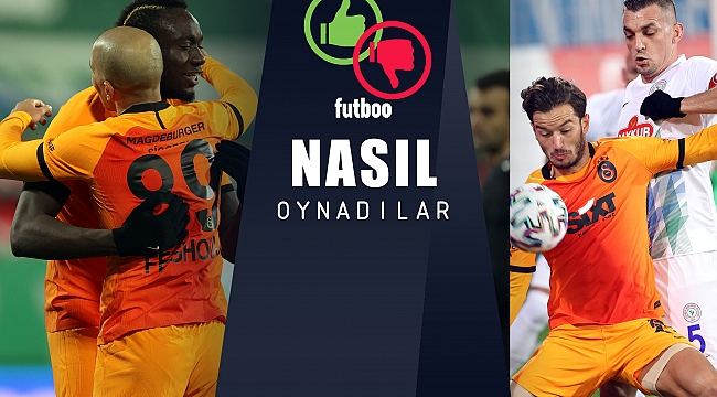 Galatasaray'da en iyi 3 performans