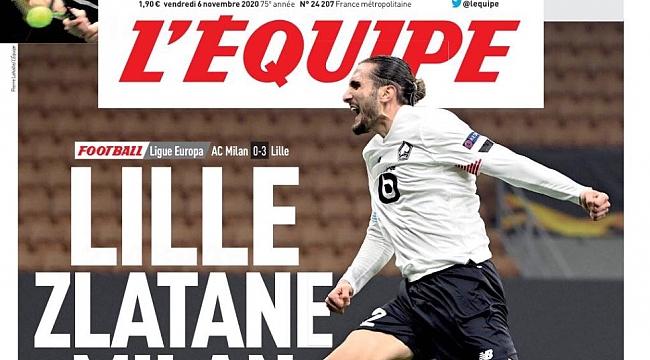 L'Equipe'in kapağında Yusuf Yazıcı
