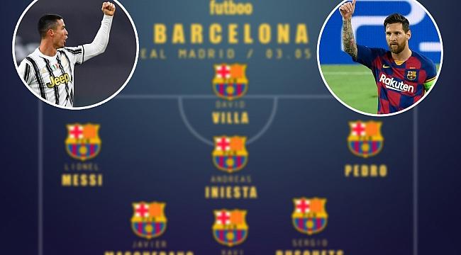 9 sene önceki tarihi maçın kadroları! CR7 ve Messi