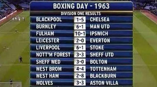 Boxing Day'in tarihe geçen unutulmaz maçları