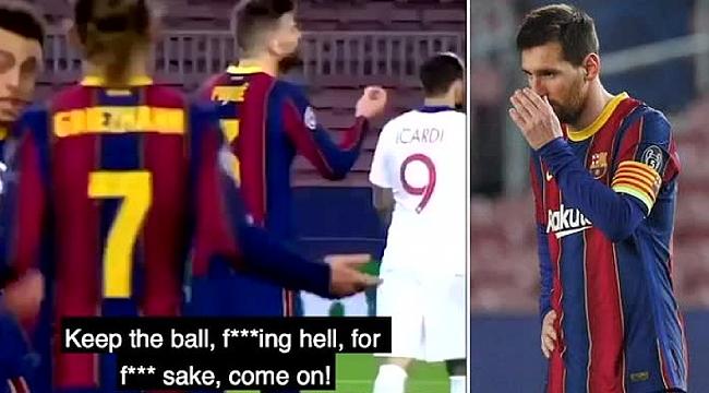 Barcelona'da saha içi küfürleşme!