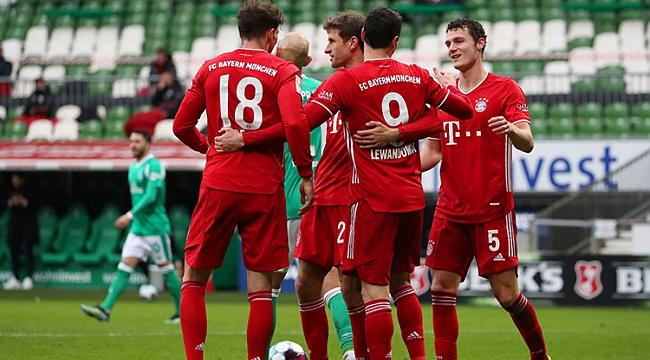 Bayern Münih güle oynaya kazandı! 4 gol...
