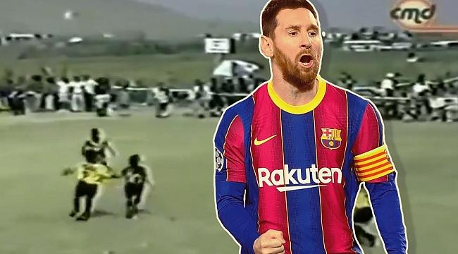 Messi'nin 8 yaşındaki hali! Kimse durduramıyor