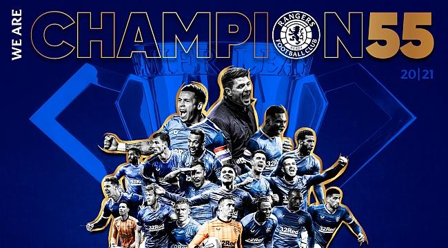 Rangers, İskoçya'da 55. kez şampiyon!