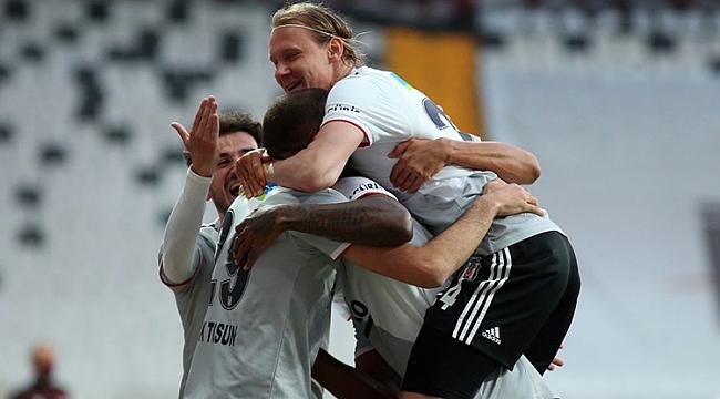 Beşiktaş'ın hasreti 3 golle bitti