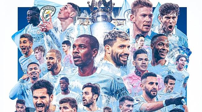 Premier League'de şampiyon Man City
