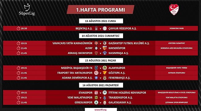 Süper Lig ilk 3 hafta fikstürü açıklandı