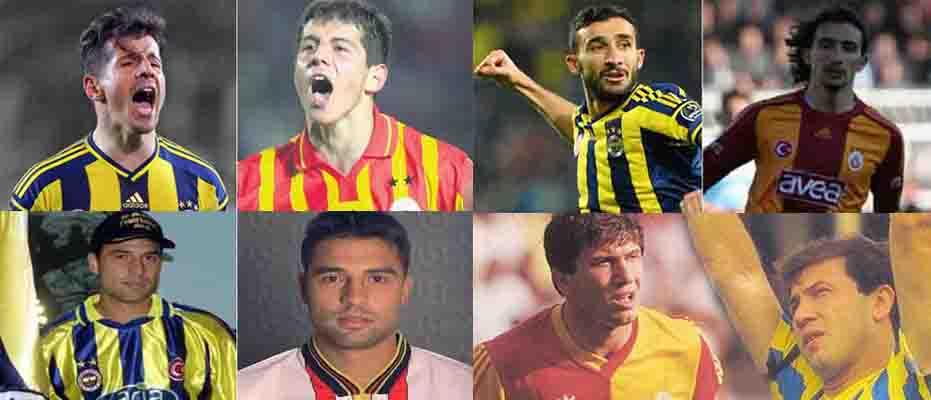 Hem Fenerbahçe'de hem de Galatasaray'da forma giyen 60 yıldız