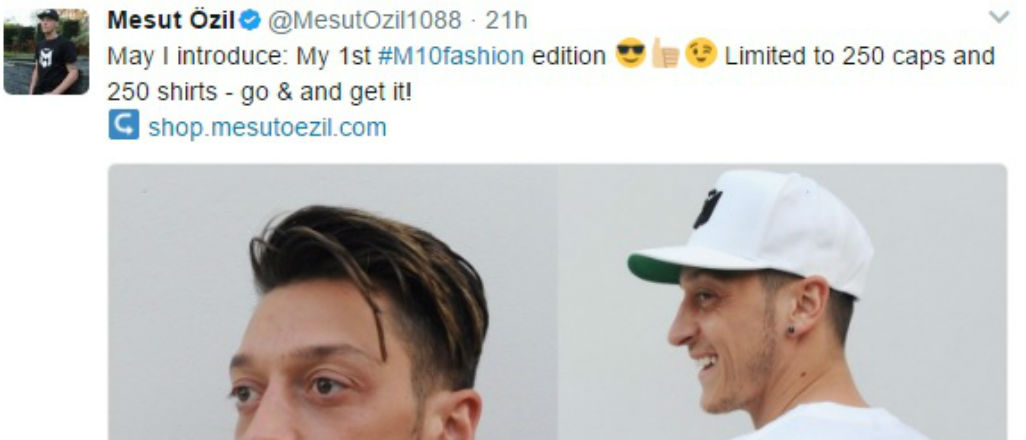 Mesut'un tişörtleri twitter sonrası yok sattı