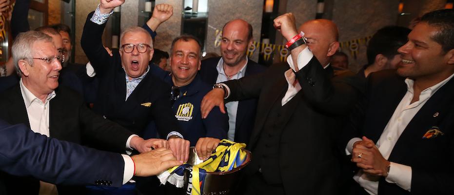 Fenerbahçe'de ilk kutlama Aziz Yıldırım'la yapıldı