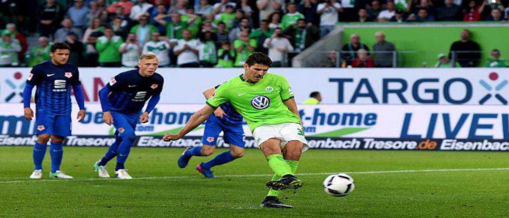 Mario Gomez Wolfsburg'a avantajı kazandırdı
