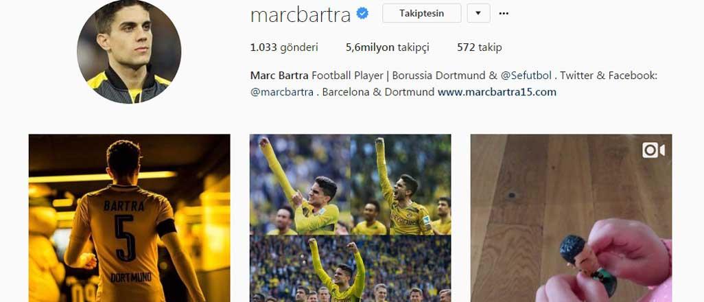 Bartra'nın Manchester paylaşımı sosyal medyayı salladı