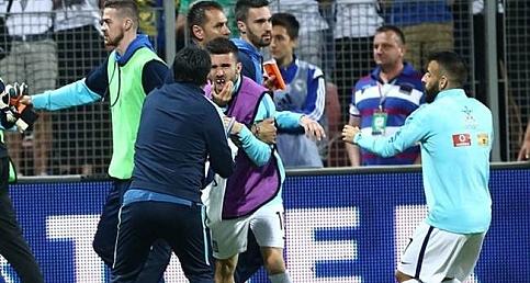 Bosna-Yunanistan maçındaki kavgada diş kırıldı