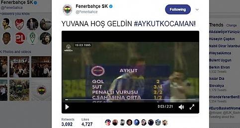 Fenerbahçe'den Aykut Kocaman'a hoş geldin videosu