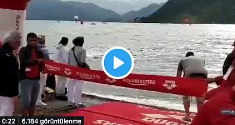 Yüzmede skandal olay